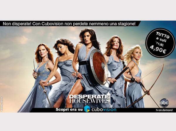 Banner Desperate Housewives per Cubovision